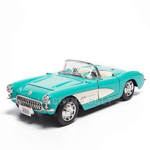 Miniatura Chevrolet Corvette Azul 1957 - Maisto 1:24
