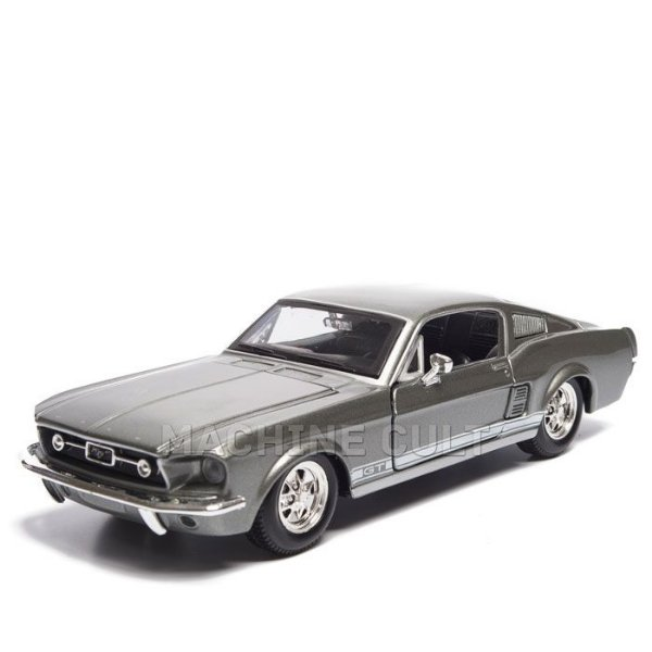 Miniatura Ford Mustang GT Cinza 1967 - Maisto 1:24