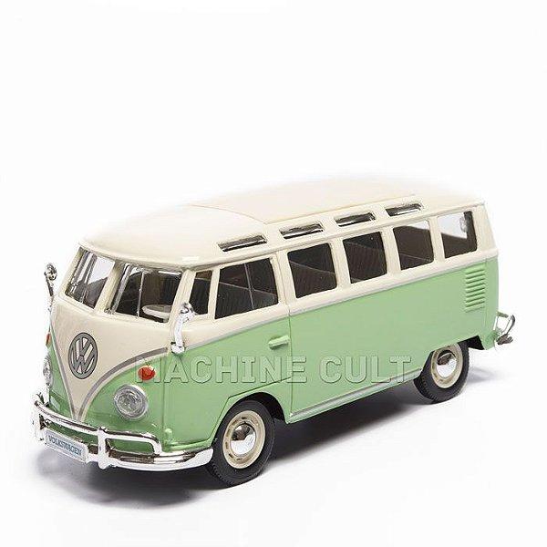 Miniatura Perua Kombi Volkswagen - Verde Claro - Maisto 1:25