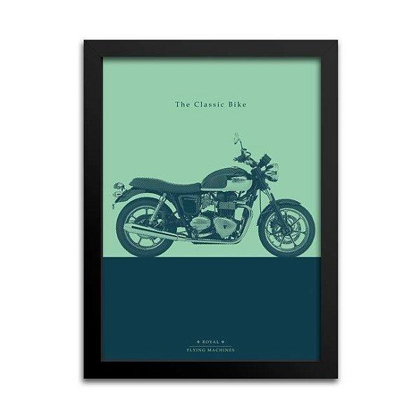 Quadro Moto Clássica Decoração