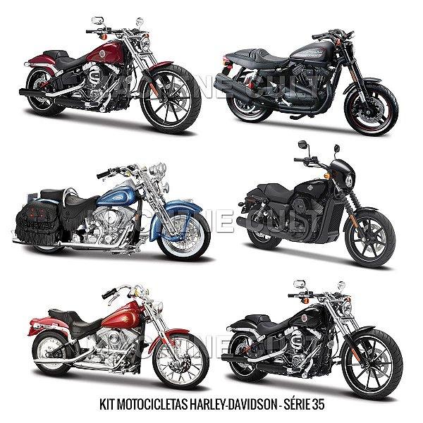 Kit Motocicletas Harley-Davidson - Série 35 - 6 unidades