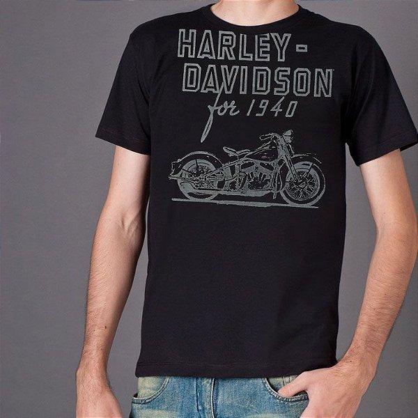 Camiseta Harley-Davidson Preta