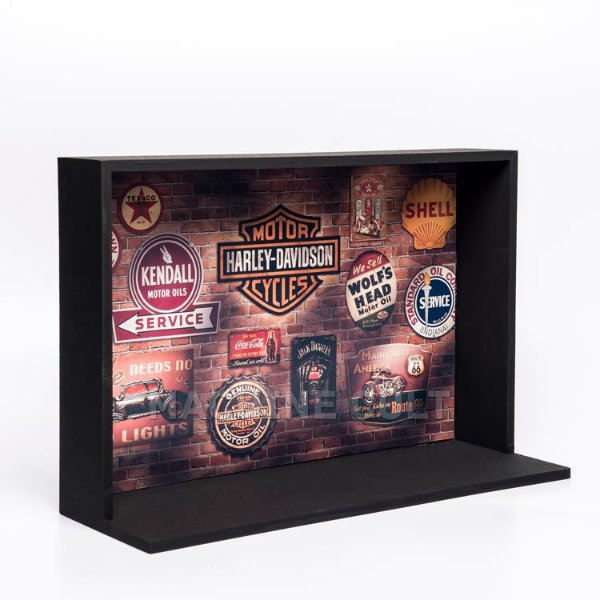 Expositor de Miniaturas Harley-Davidson 20x30cm - MD5