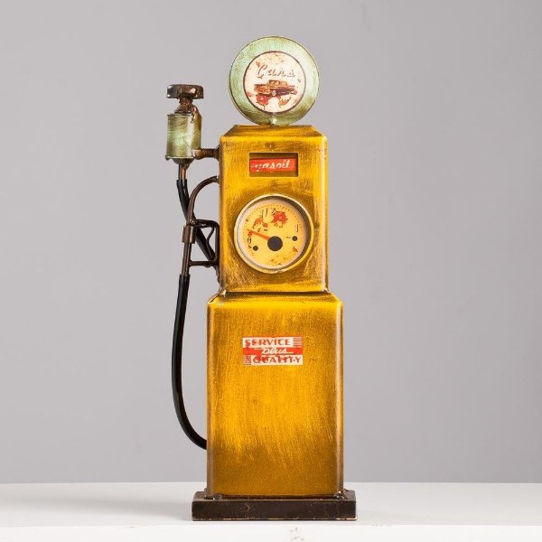Miniatura Bomba Gasolina Antiga - Amarela