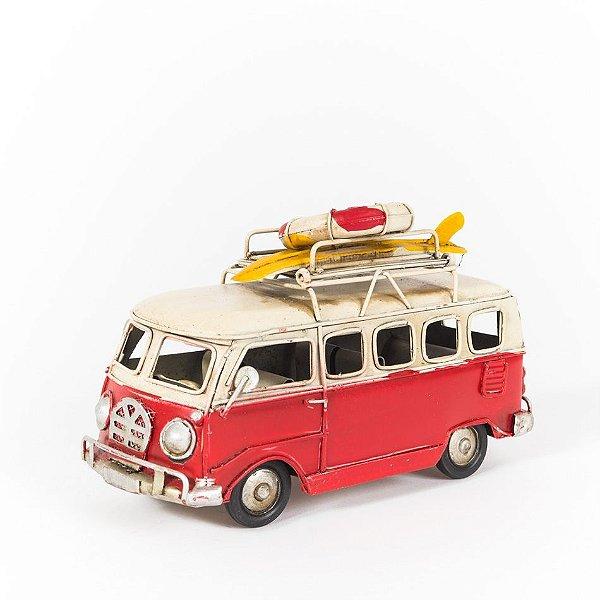 Miniatura Perua Kombi VW - Vermelha