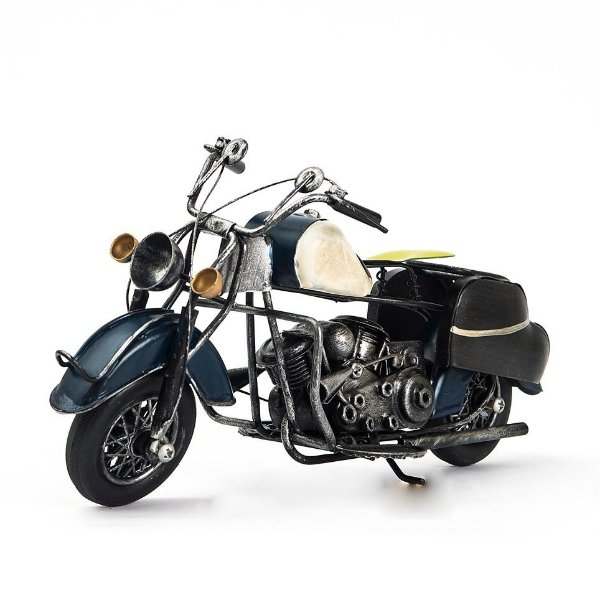 Miniatura Moto Harley-Davidson Vintage - Azul