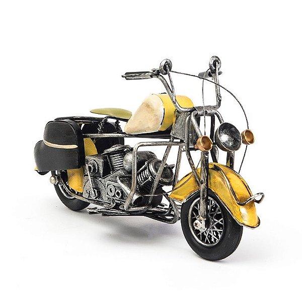 Miniatura Moto Harley-Davidson Vintage - Bege