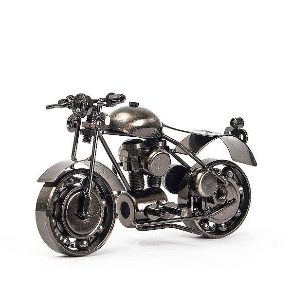 Miniatura Cromada Moto Custom