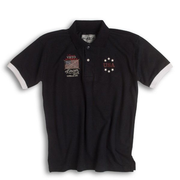 Camiseta Masculina Preta - Polo USA