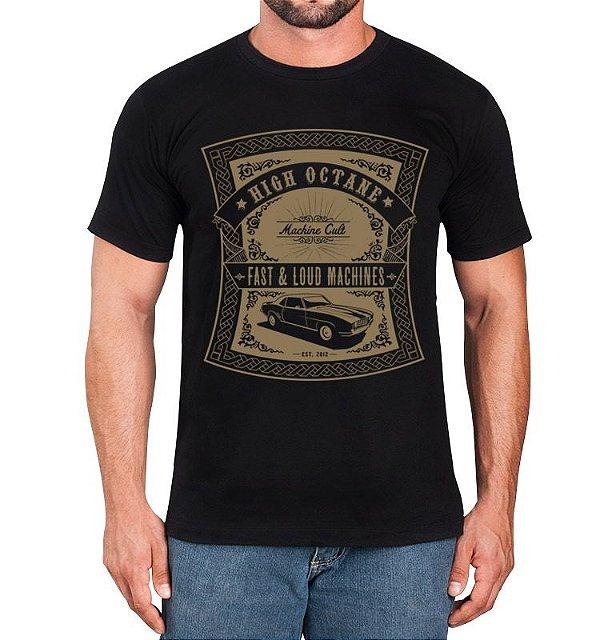 Camiseta de Carro Preta - High Octane