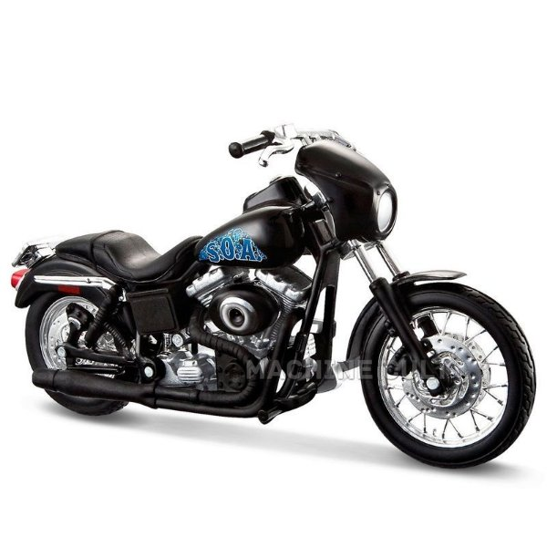 Miniatura Moto Sons of Anarchy Opie - 2001 Harley-Davidson Dyna Super Glide Sport - Maisto 1:18