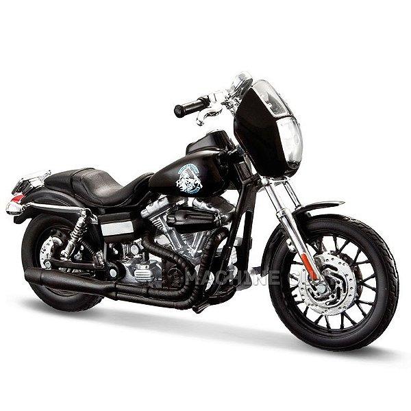 Miniatura Moto Sons of Anarchy Clay - 2008 Harley-Davidson Dyna Super Glide Sport - Maisto 1:18