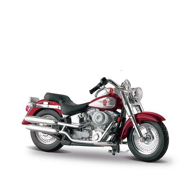 Miniatura Harley-Davidson 2000 FLSTF Fat Boy - Maisto 1:24