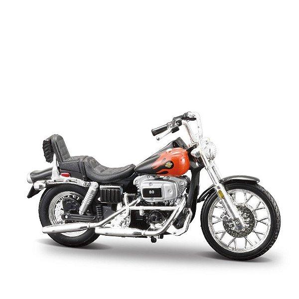 Miniatura Harley-Davidson 1980 FXWG Wide Glide - Maisto 1:24