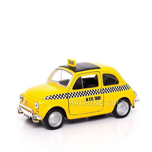 Miniatura Taxi - Fiat Nuova 500 - Welly - 1:34