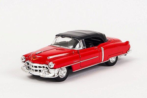 Miniatura Cadillac Eldorado 1953 Vermelho - Welly - 1:34