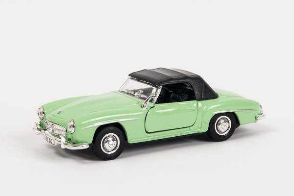 Miniatura Mercedes-Benz 190SL 1955 Verde - Welly - 1:34