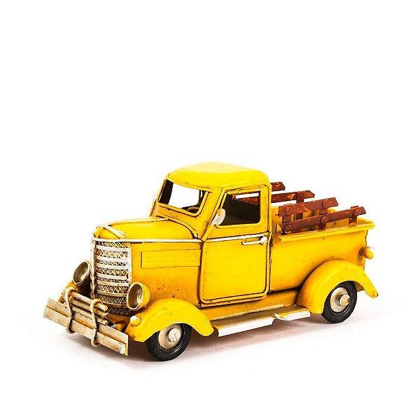 Miniatura Caminhonete Decorativa - Amarela