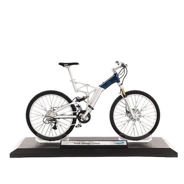 Miniatura Bicicleta Audi design Cross - Welly 1:10