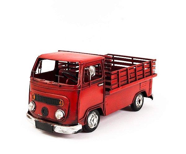 Perua Kombi VW com Carroceria - Vermelha