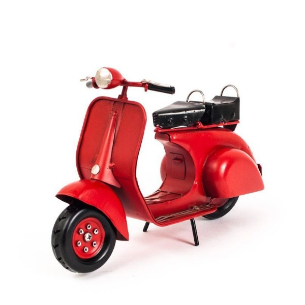 Miniatura Lambreta Antiga Vermelha