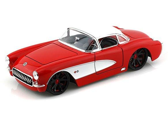 Miniatura Chevy Corvette 1957 Vermelho - Jada 1:24