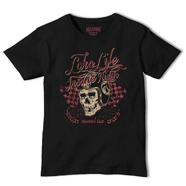 Camiseta Caveira Preta - Loko Life