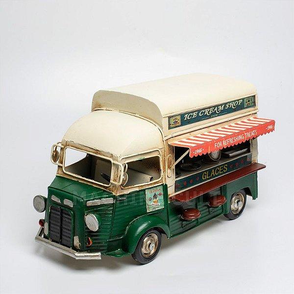Miniatura Caminhão Food Truck Trailer