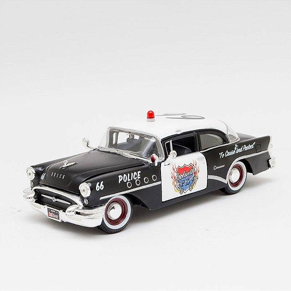 Miniatura 1955 Buick Century - Carro de Polícia - Maisto - 1:26