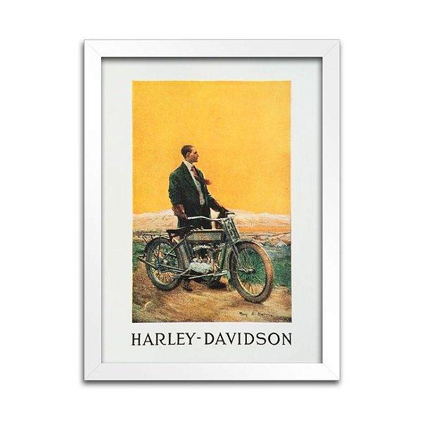 Quadro Harley-Davidson Antigo - 1914