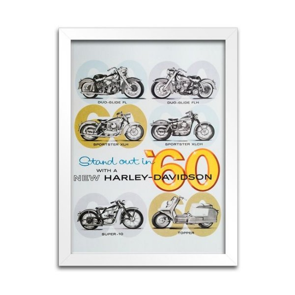 Quadro Decorativo Harley-Davidson - 1960