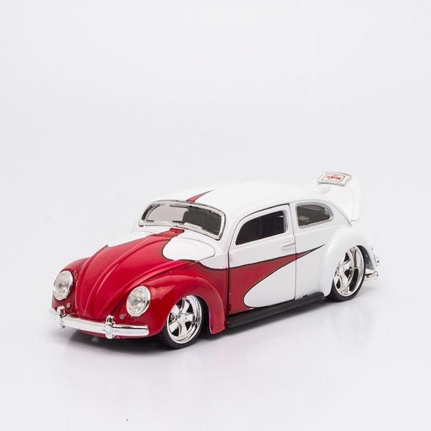 Miniatura Volkswagen Fusca Branco - Beetle - Maisto - 1:24