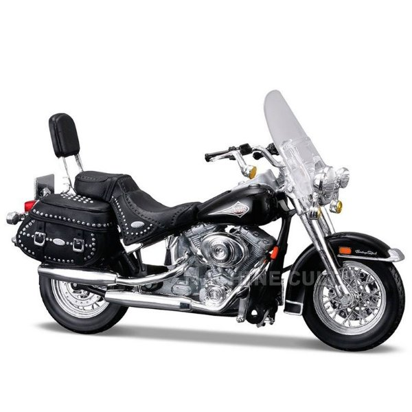 Miniatura Moto Harley-Davidson 2000 FLSTC Heritage Softail Classic Maisto 1:18