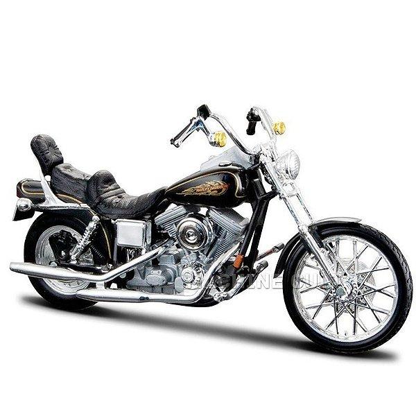 Miniatura Moto Harley-Davidson 1997 FXDWG Dyna Wide Glide Maisto 1:18