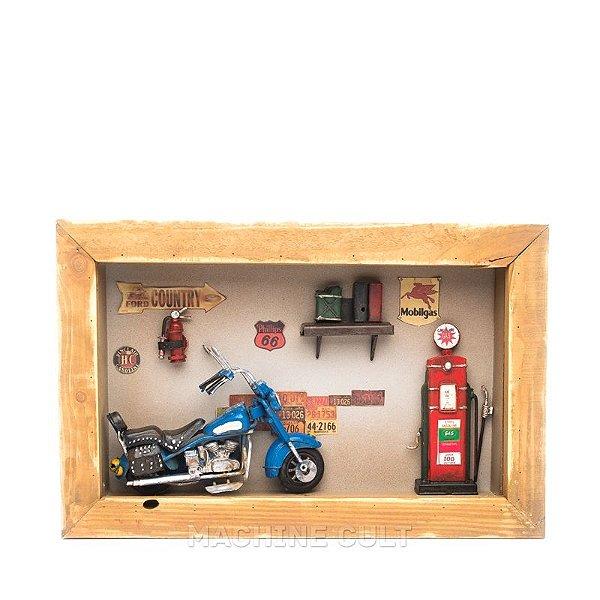 Quadro Diorama de Moto