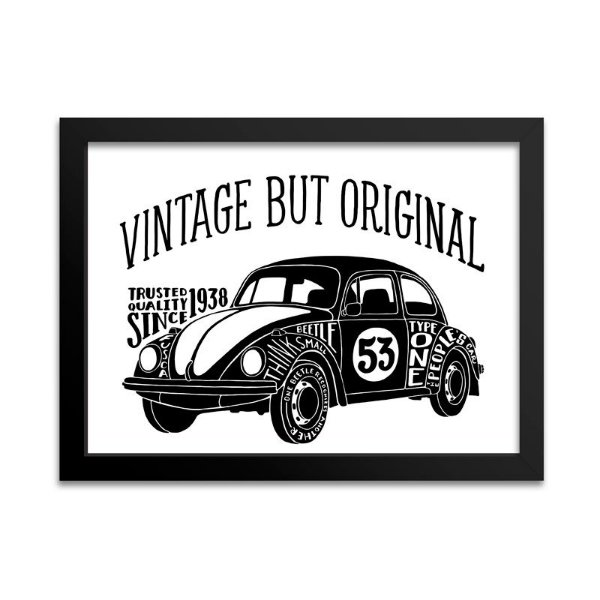 Quadro de Fusca Vintage