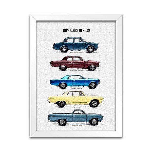 Quadro Decorativo - Carros Anos 60