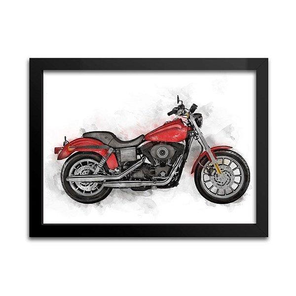 Quadro Decorativo - Moto Vermelha