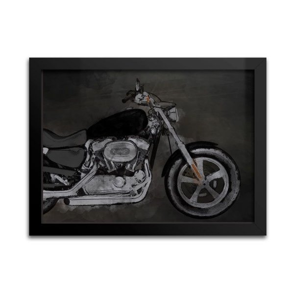 Quadro Decorativo - Moto Preta