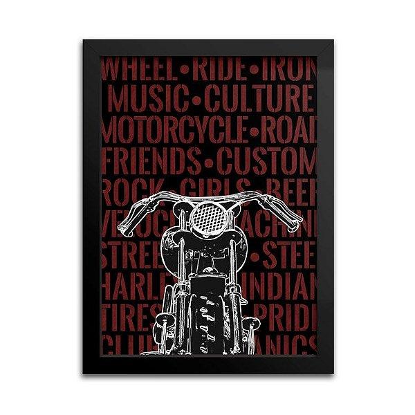 Poster Moto Custom - Decoração