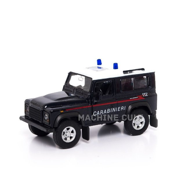 Miniatura Land Rover Defender - PolÌÎ_cia - Welly 1:34