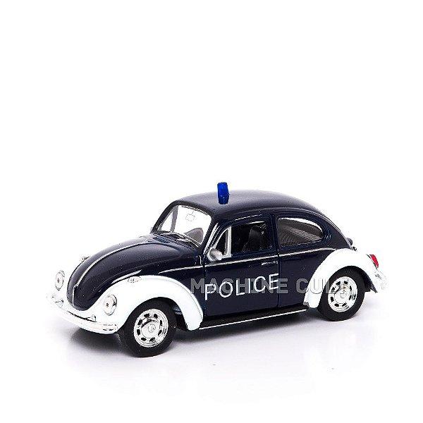 Miniatura Fusca - Polícia - Welly 1:34
