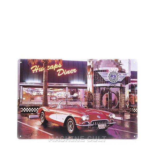 Placa em Metal Corvette Conversível