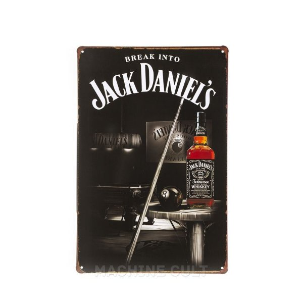 Placa em Metal Jack Daniel's