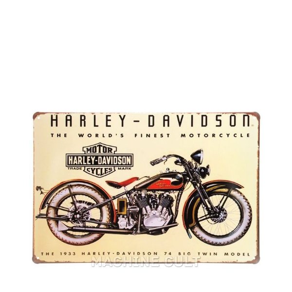 Placa Decorativa Harley-Davidson