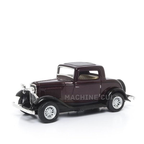 Miniatura Ford 3 Window Coupe 1932 Bordô - 1:34