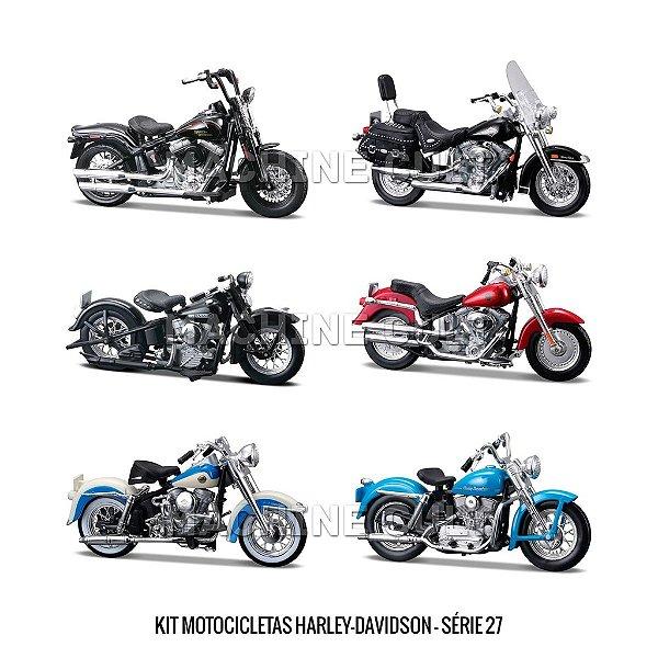 Kit Motocicletas Harley-Davidson - Série 27 - 6 unidades