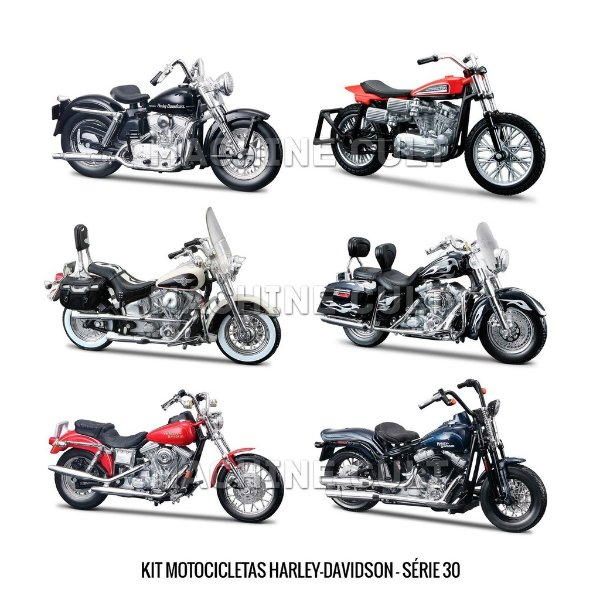 Kit Motocicletas Harley-Davidson - Série 30 - 6 unidades