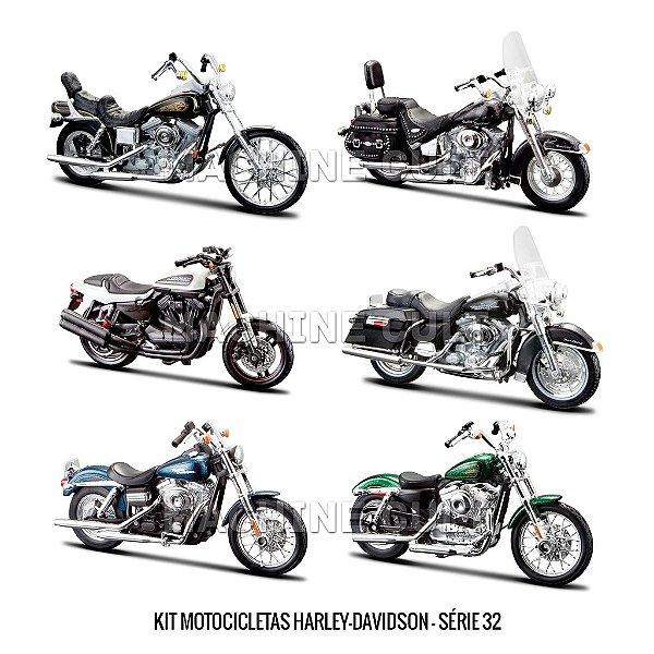 Kit Motocicletas Harley-Davidson - Série 32 - 6 unidades