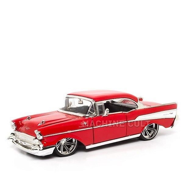 Miniatura Chevy Bel Air 1957 - Vermelho - Jada 1:24